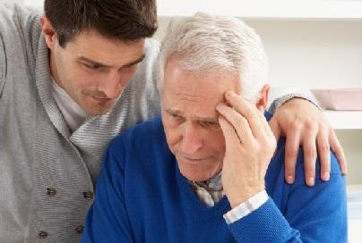 senil demens symptomer
