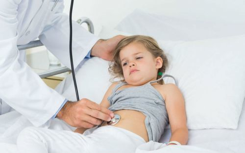 Pain in the abdomen of a child in 5 years
