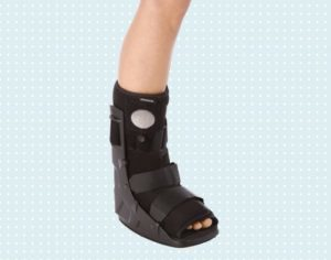 Orthosis with calcaneus fracture